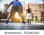 two afroamerican athletes... | Shutterstock . vector #511641361