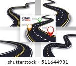 winding road set. trip and... | Shutterstock .eps vector #511644931