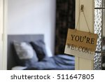 hotel room  you are welcome... | Shutterstock . vector #511647805