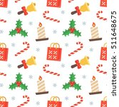seamless flat christmas pattern ...