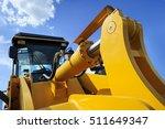 bulldozer  huge yellow powerful ... | Shutterstock . vector #511649347