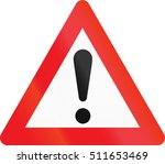 warning road sign used in... | Shutterstock . vector #511653469