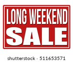 long weekend red sign isolated... | Shutterstock .eps vector #511653571
