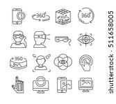 set of virtual reality related... | Shutterstock .eps vector #511658005