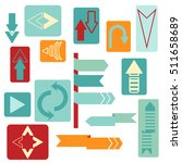 set of flat arrow.difference...   Shutterstock .eps vector #511658689