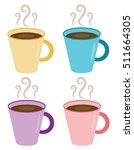 hot coffee mugs   Shutterstock .eps vector #511664305