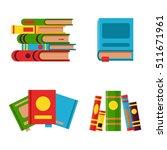 books set in flat design style... | Shutterstock .eps vector #511671961