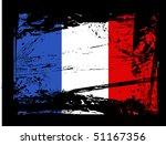 grunge french flag vector | Shutterstock .eps vector #51167356