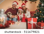 beautiful happy family with... | Shutterstock . vector #511679821
