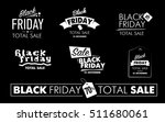 black friday black and white... | Shutterstock .eps vector #511680061