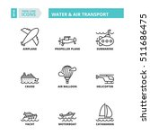 flat symbols about water and... | Shutterstock .eps vector #511686475