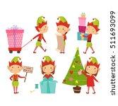 Santa Claus Kids Cartoon Elf...