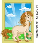 fairytale unicorn on color... | Shutterstock . vector #51169744