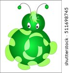 green shy baby caterpillar with ... | Shutterstock .eps vector #511698745