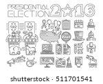 presidential elections 2016.... | Shutterstock .eps vector #511701541