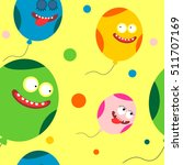 funny cartoon balloons vector... | Shutterstock .eps vector #511707169