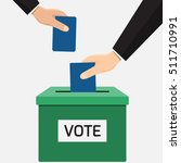 voting concept in flat style  ...   Shutterstock .eps vector #511710991