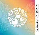natural cosmetics logo. berry... | Shutterstock .eps vector #511715101