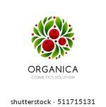 natural cosmetics logo. berry... | Shutterstock .eps vector #511715131