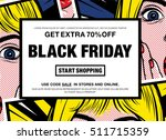 black friday get extra 70  off... | Shutterstock .eps vector #511715359