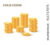 stacks of gold coins.... | Shutterstock .eps vector #511717075