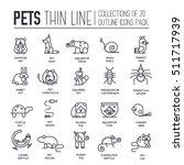 animal flat thin line... | Shutterstock .eps vector #511717939