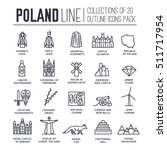 country thin line poland travel ...   Shutterstock .eps vector #511717954