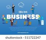 business banner. vector... | Shutterstock .eps vector #511722247