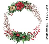 Wreath With Watercolor Tree...
