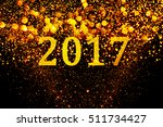 new year decoration closeup on... | Shutterstock . vector #511734427