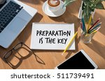 Small photo of BE PREPARED and PREPARATION IS THE KEY plan, prepare, perform