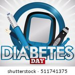 design for world diabetes day... | Shutterstock .eps vector #511741375
