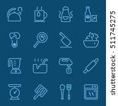 kitchen utensils and cooking... | Shutterstock .eps vector #511745275