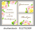 romantic invitation. wedding ... | Shutterstock . vector #511751509