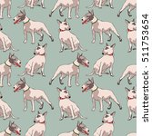 dogs. bull terrier. seamless... | Shutterstock .eps vector #511753654
