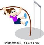 funny girl cartoon playing high ...   Shutterstock .eps vector #511761709