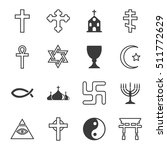 vector black line religion icon ... | Shutterstock .eps vector #511772629