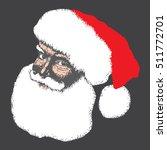 santa hand drawing doodle... | Shutterstock .eps vector #511772701