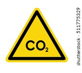 co2 hazard sign  symbol | Shutterstock .eps vector #511775329