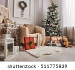 merry christmas and happy... | Shutterstock . vector #511775839
