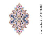 vector ornamental lotus flower  ... | Shutterstock .eps vector #511778485