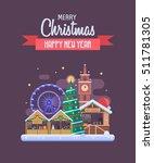 Vector Christmas Wishing Card...