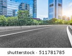empty asphalt road through... | Shutterstock . vector #511781785
