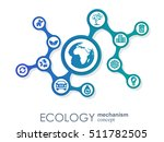 ecology mechanism concept.... | Shutterstock .eps vector #511782505