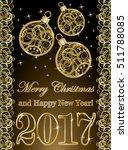 golden new year 2017 wallpaper... | Shutterstock .eps vector #511788085