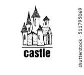 abstract castle vector logo.... | Shutterstock .eps vector #511795069