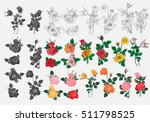 Stock vector bouquet of roses can be used as greeting card invitation card for wedding invitation card for 511798525