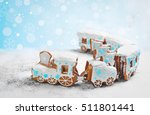 new year card with christmas... | Shutterstock . vector #511801441