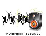 happy people and loudspeaker | Shutterstock .eps vector #51180382