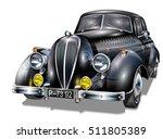 retro car. | Shutterstock .eps vector #511805389